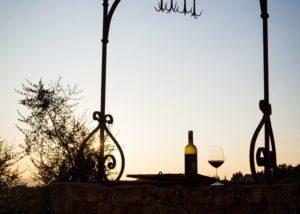 Wine At Pomona Winery in Chianti, Tuscany, Italy