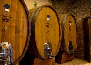 Barrels At The Cellar Of San Ferdinando Winery
