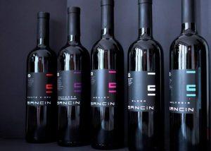 Five Bottles Of Wine By Sancin Winery