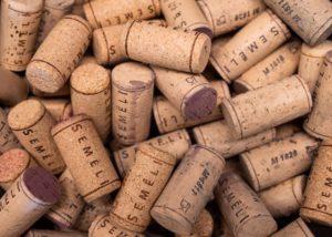 semeli estate many stunning wine corks in the winery in lovely greece