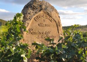stone with Bodegas Ramirez de la Piscina winery name on it