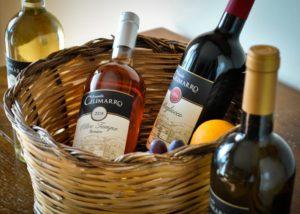 Wine Bottles At Tenuta Celimarro Winery