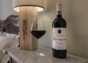 a bottle of wine by tenuta di capezzana