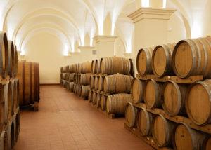 Barrels Stacked At Tenuta Gorghi Tondi Winery