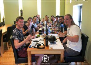 People Tasting Wine By Tenute Falezza Winery In The Tasting Room