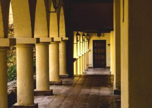 tukma amazing gallery with columns in the beautiful estate