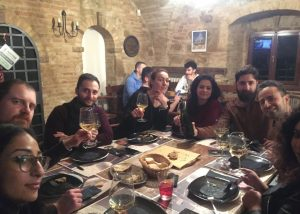 People Enjoying Wines And Food At Vallerosa Bonci Winery