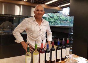vasija secreta bottles of rare wines against winemaker in the estate
