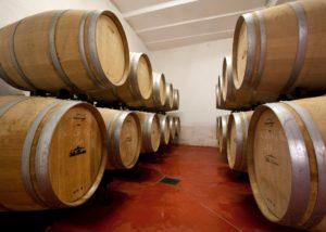 barrels stored in the cellar of villa baulieu
