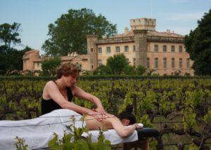 massage session at villa baulieu
