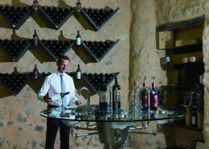 wine tasting at villa baulieu