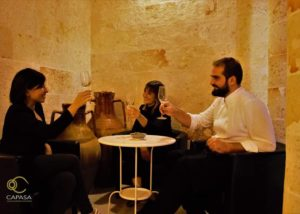 People Enjoying Wines At Villa Pinciana Winery