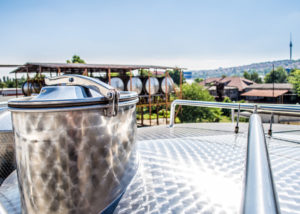 vinprom rousse large steel tanks for wine production process