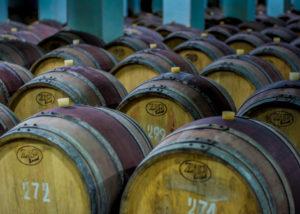vinprom rousse large wooden barrels for wine aging process