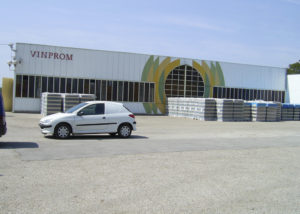 vinprom rousse large white building of winery in bulgaria
