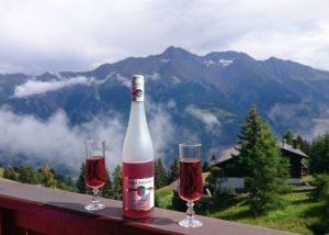 A Bottle Of Wine At Weingut Kreuz-Bauer Winery