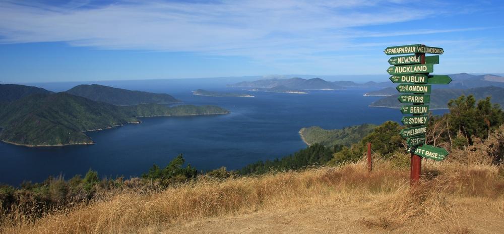 Scene in the Marlborough Sounds, New Zealand