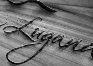 Company Name of Ancilla Azienda Agricola La Ghidina in Black and White