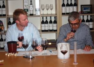 Two Men Tasting Wine At Azienda Agricola Luca Ferraris Winery