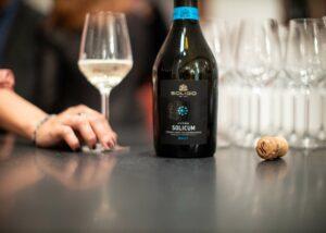 a man holding a glass of wine at Cantina Colli Del Soligo
