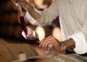 Testing Wines At Castello La Leccia Winery