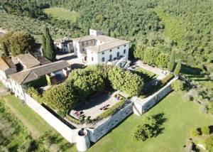 Aerial View Of Castello La Leccia Winery
