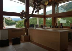 Tasting room of Col Vetoraz Spumannti Spa winery