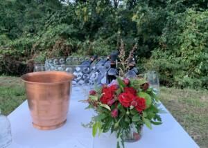 decoration on the table for wine tasting at Tenuta Valdomini S.Agricola