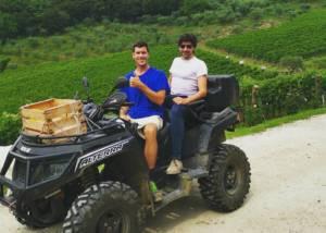 Owners in the vineyard of he Vignaioli Contra' Soarda