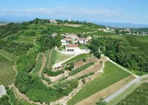 Aerial view of the Azienda Agricola Aldo Adami winery estate