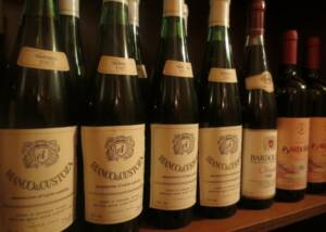 Wine bottles of the Azienda Agricola Aldo Adami winery
