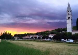 vineyard of azienda agricola brumat gabriele during beautiful sunset