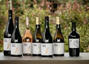 Wine Bottles of Bell Cros at Display