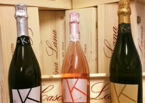three varieties of wines by cascina lana
