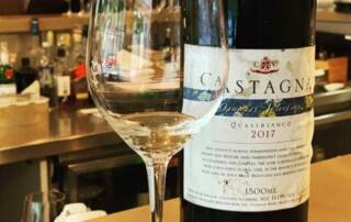 A glass of Castagna wine