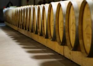 Barrels at Chateau Caillou