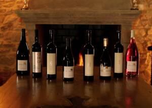 Wine Bottles Of The Chateau Cohola Winery