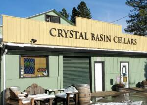 Winery building of Crystal Basin Cellars