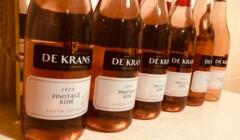 Bottles of red wines of the De Krans Wines