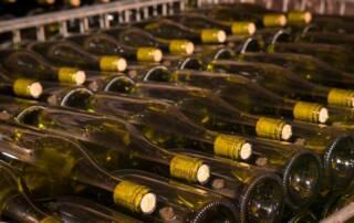 Wine Bottles at Domaine De La Rochette Winery