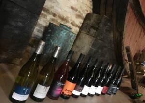Rows Of Wine Bottles Of The Domaine Treloar Winery