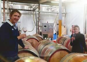 Two People Tasting Wine Inside The Cellar Area Of The Elderton Wines Winery