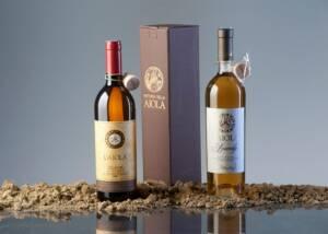 Two bottles of classic wine of Fattoria Della Aiola winery