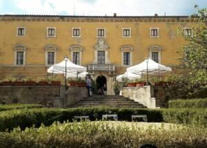 Magnificient building of the Fattoria Della Aiola winery