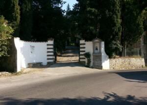entrance to fattoria montereggi