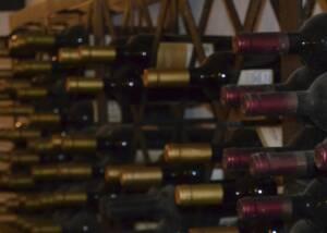 Display of João Portugal Ramos Wine Bottles