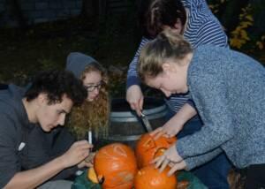 Halloween preparation at Karadi Berger Winery
