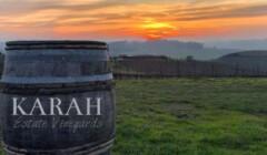 A Wine Barrel Of The Karah Estate Vineyard Winery