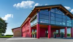 Pretty Red Building Of The La Jara Winery