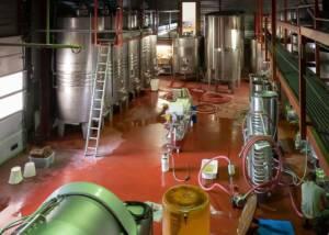 Fermentation Tanks Inside The La Royère Winery